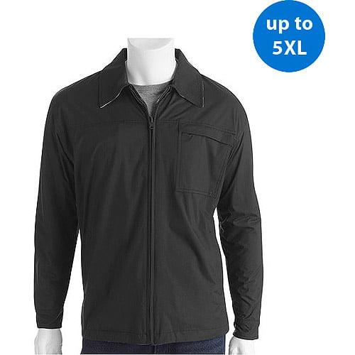 Big Men's Reversible Fleece Nylon Jacket with Plaid Lining
