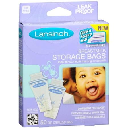 4 Pack Lansinoh Tmilk Storage Bags 50 Each
