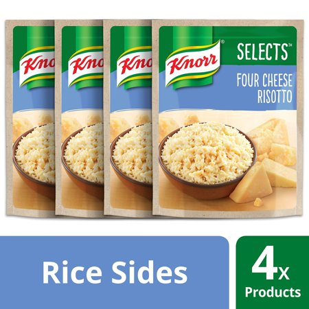 Knorr Selects Rice Side Dish, Four Cheese Risotto 6.2 oz, 4 Pack Pack of
