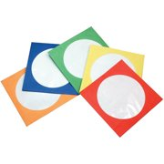 Inland Pro CD/DVD Paper Color Sleeves, 100-Pack