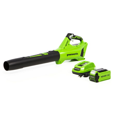 Greenworks 40V Performance Jet Blower 2.5Ah Battery and Quick Charger Included 2411902 ()