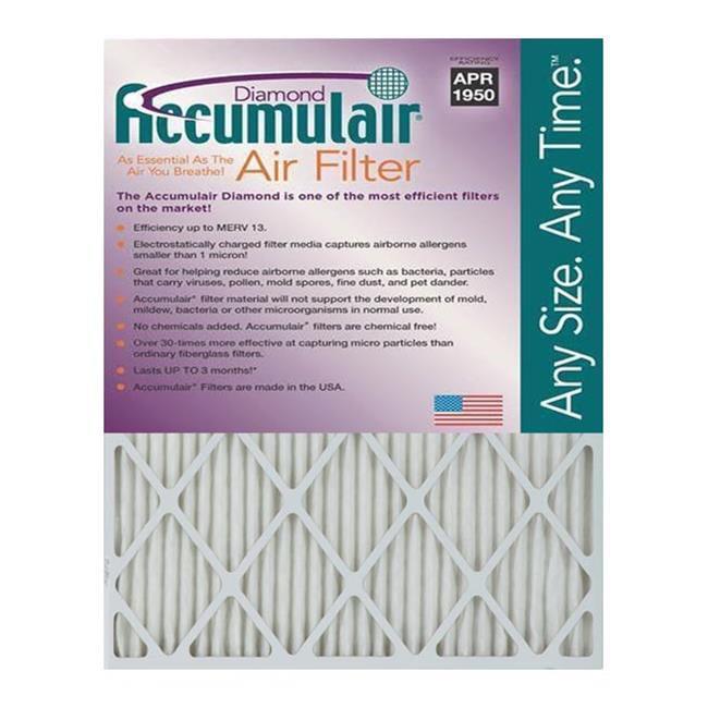 Accumulair FD12X20N Diamond 1 In. Filter,  Pack of 2