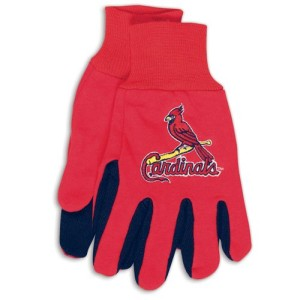 St. Louis Cardinals Two Tone Gloves Adult Size by Wincraft, Inc.