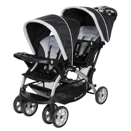 Baby Trend Sit N Stand Infant Toddler Twin Tandem 2 Seat Double Stroller,
