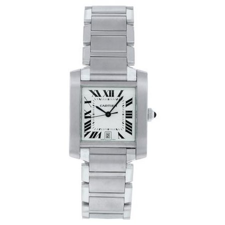 Cartier  Men's W51002Q3 'Tank' Automatic Silver Stainless steel Watch ()