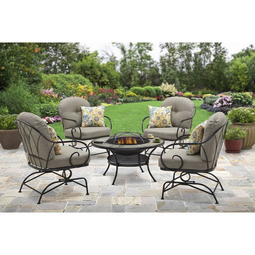 Better Homes and Gardens Myrtle Creek 5-Piece Fire Pit Chat Set
