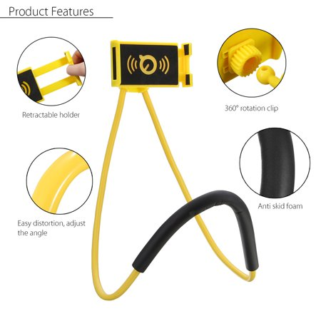 360° Rotation Flexible Long Arms Support Neck Snake-like Clip Holder Selfie Clamp Mount for Cell Phone - image 1 de 8