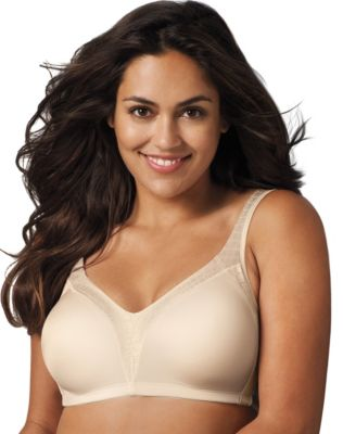 Playtex 18 Hour Back Smoother Wirefree Bra 36B Natural Beige