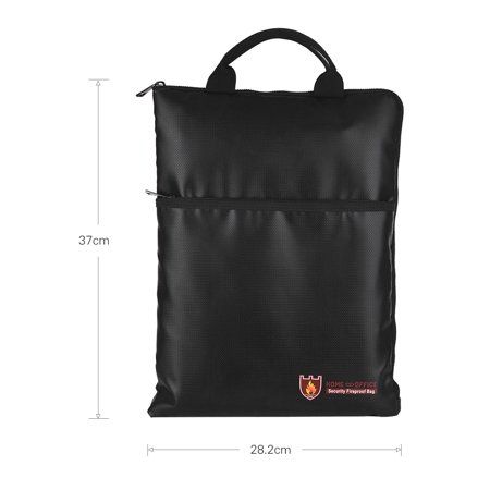 Fireproof Document Bag Water Resistant File Pouch Envelope Holder Silicone Coated Fiberglass Zipper Closure Safe Storage for Cash Money Passport Valuables - image 1 of 7