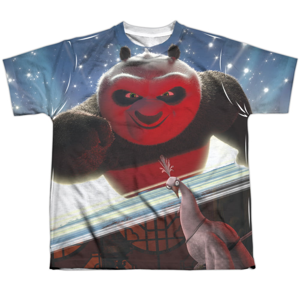 Kung Fu Panda EPIC JUMPING 2-Sided Sublimated All Over Print Poly T-Shirt