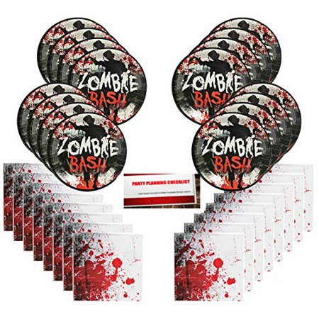 Planning A Church Halloween Party (Bloody Zombie Scary Halloween Party Supplies Bundle Pack for 16 Guests (Plus Party Planning Checklist by Mikes Super)