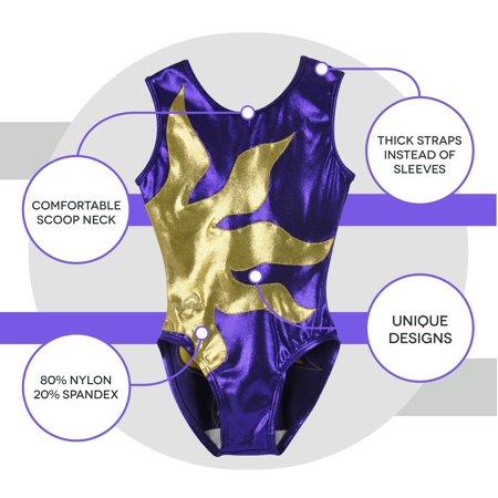 b7ece6d5eca8 Obersee - O3GL015 Girl's Girls Gymnastics Leotard - Purple Sun - Walmart.com