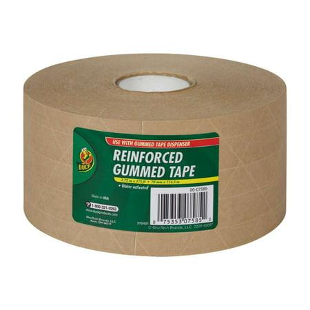 Duck Brand Reinforced Gummed Tape - Tan, 2.75 in. x 375 ft.