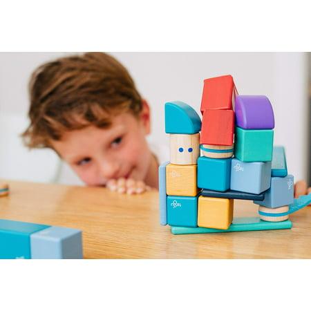 14 Piece Tegu Magnetic Wooden Block Set, Sunset - image 11 of 16