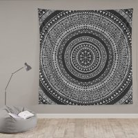 e91540682b Product Image Mainstays Black Medallion Oversized Cotton Print Tapestry