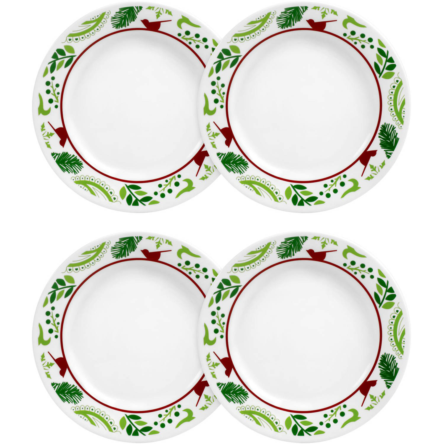 "Corelle Impressions 8.5"" Lunch Plate, Birds and Boughs, Set of 4"