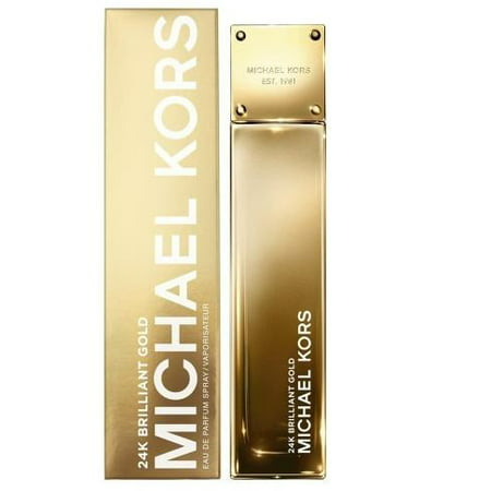 Michael Kors 24K Brilliant Gold Eau De Parfum Spray for Women 3.4 (Michael Kors Eau De Parfum Spray 3-4 Oz)
