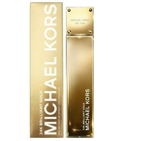 Michael Kors 24K Brilliant Gold Eau De Parfum Spray for Women 3.4 -