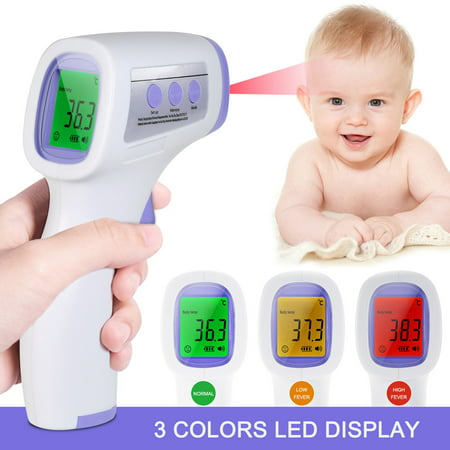 Digital Forehead Thermometer Infrared Baby Thermometer Non-contact Body Temperature Gauge High Sensitivity Temperature for Baby with Fever Alarm - image 1 of 7