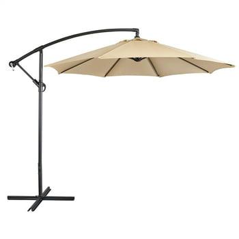 SmileMart 9 Ft Patio Offset Umbrella Hanging Cantilever Umbrella
