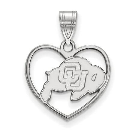 Colorado Heart - Colorado Pendant in Heart (Sterling Silver)