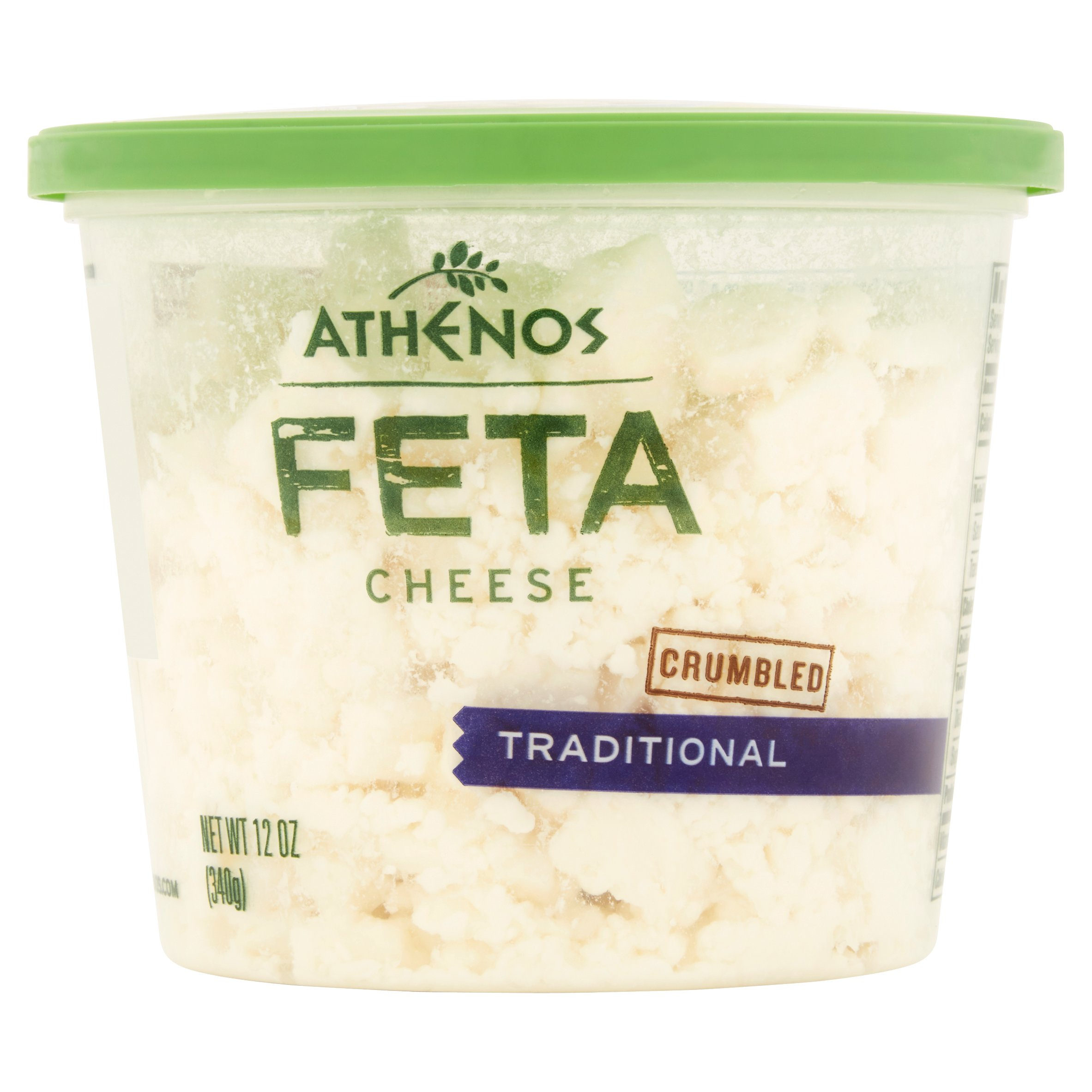 Athenos Traditional Crumbled Feta Cheese, 12 oz