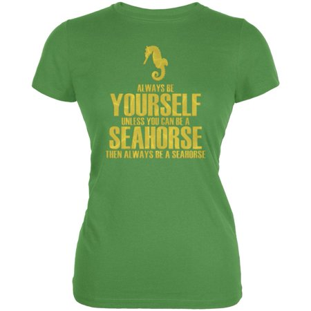 Seahorse Shorts (Always Be Yourself Seahorse Juniors Soft T Shirt )