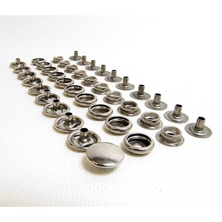 75 Piece 100% Stainless Steel Boat Marine Canvas Upholstery Snaps Cap - Socket - Stud - Eyelet All Four Parts, 100% Marine Grade Stainless Steel.., By Fasnap Ship from - Marine Grade Stainless Steel