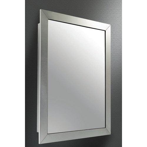 Winston Porter Odalys Satin Wide Mirror Door 26 X 18 Recessed