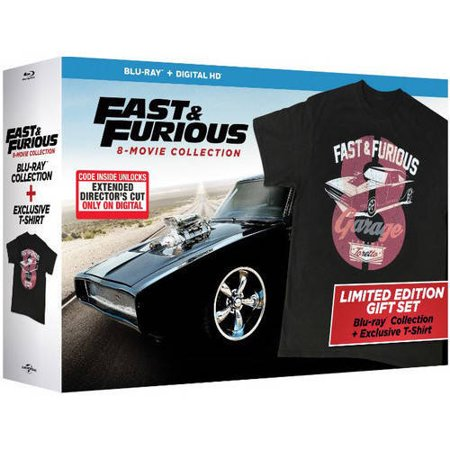 fast furious 8 movie collection blu ray digital hd walmart exclusive. Black Bedroom Furniture Sets. Home Design Ideas