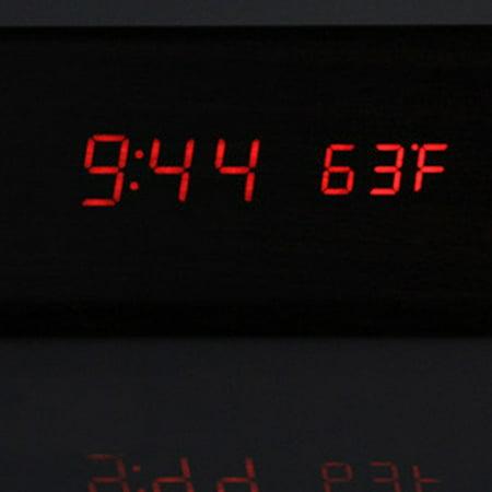 Led Multi-Function Wood Clock Temperature Fashion Creative Voice Control Mute - image 5 de 6