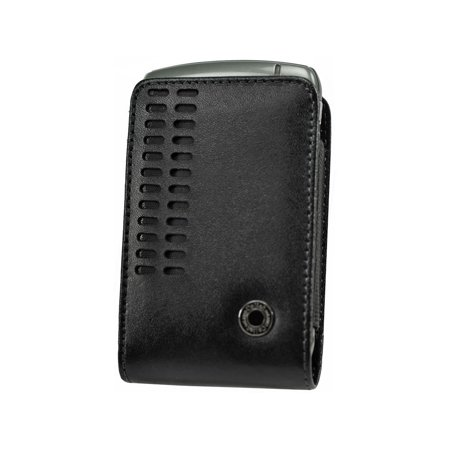 Blackberry Curve 8300, 8310, 8320, & 8330 Black Bergamo Case with Removable Spring Belt Clip, European-made high grade classic leather case By