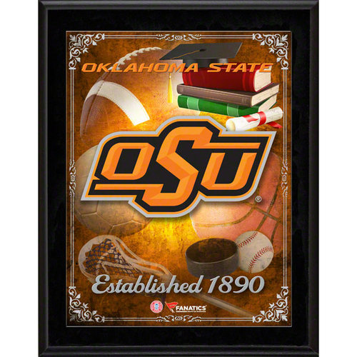 NCAA - Oklahoma State Cowboys Team Logo Sublimated 10x13 Plaque