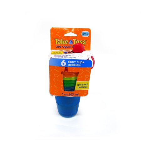 The First Years Take & Toss Hard Spout Sippy Cup, 6 Pk