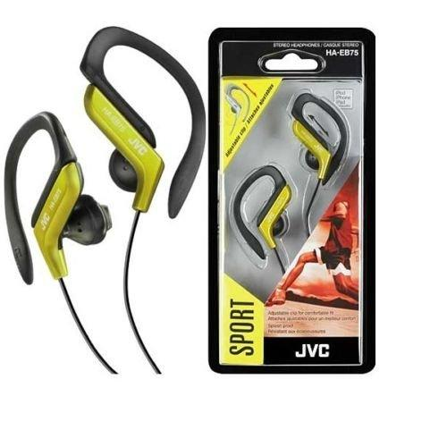 JVC HA-EB75Y Sports Clip Headphone - Yellow (HAEB75Y)