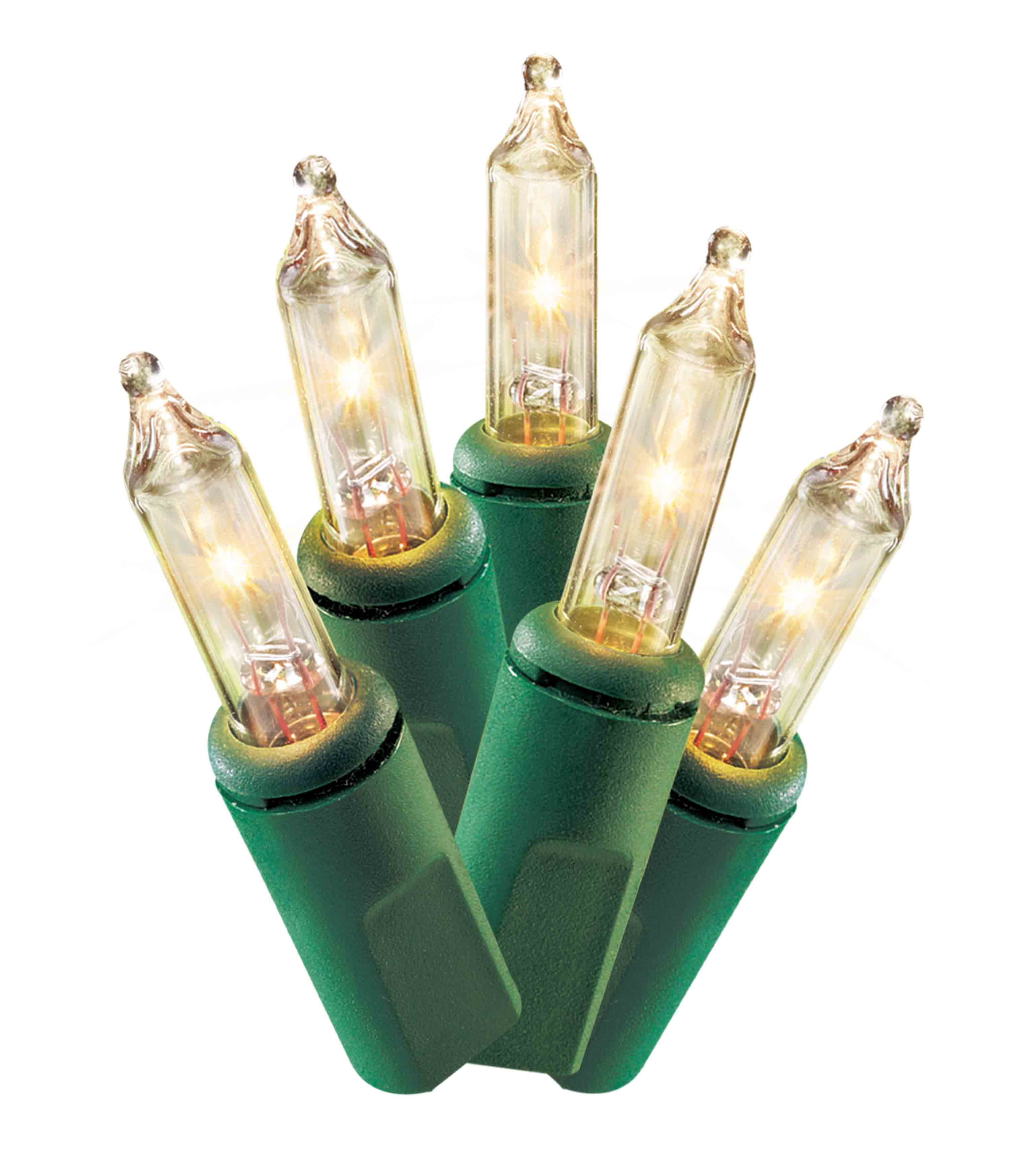 100 Ct Holiday Time Incandescent Clear Mini String Lights