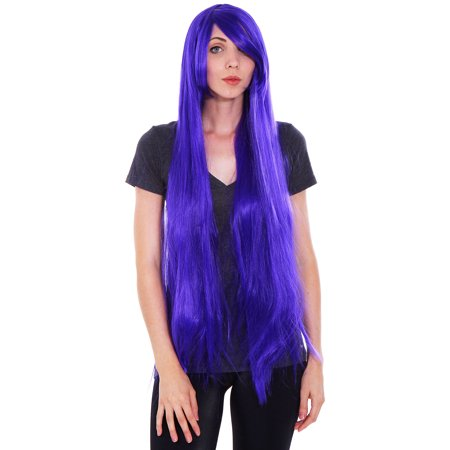 Styling Halloween Wigs (New Style 100CM Halloween Long Straight Women's Cosplay Party Wig Full Hair)
