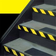 Tape Logic T91363PKBY 1 in. x 36 yards Black & Yellow Striped Vinyl Safety Tape - Pack of 3