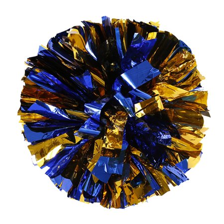 Metallic Foil And Plastic Ring Handheld Pom Poms Cheerleading Party Decor for $<!---->