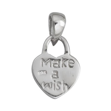 Make A Wish Necklace - YGI SP3027 Sterling Silver Make A Wish Heart Pendant