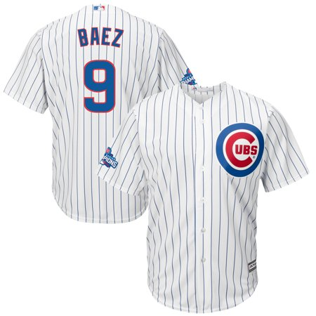Javier Baez Chicago Cubs Majestic Home 2016 World Series Champions Team Logo Patch Player Jersey - White