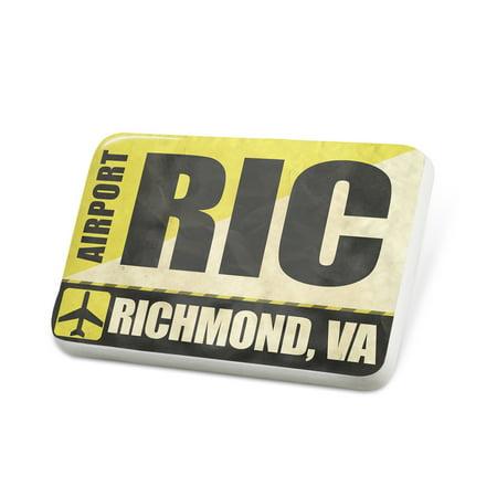 Porcelein Pin Airportcode RIC Richmond, VA Lapel Badge – (Fashion Park Richmond Va)