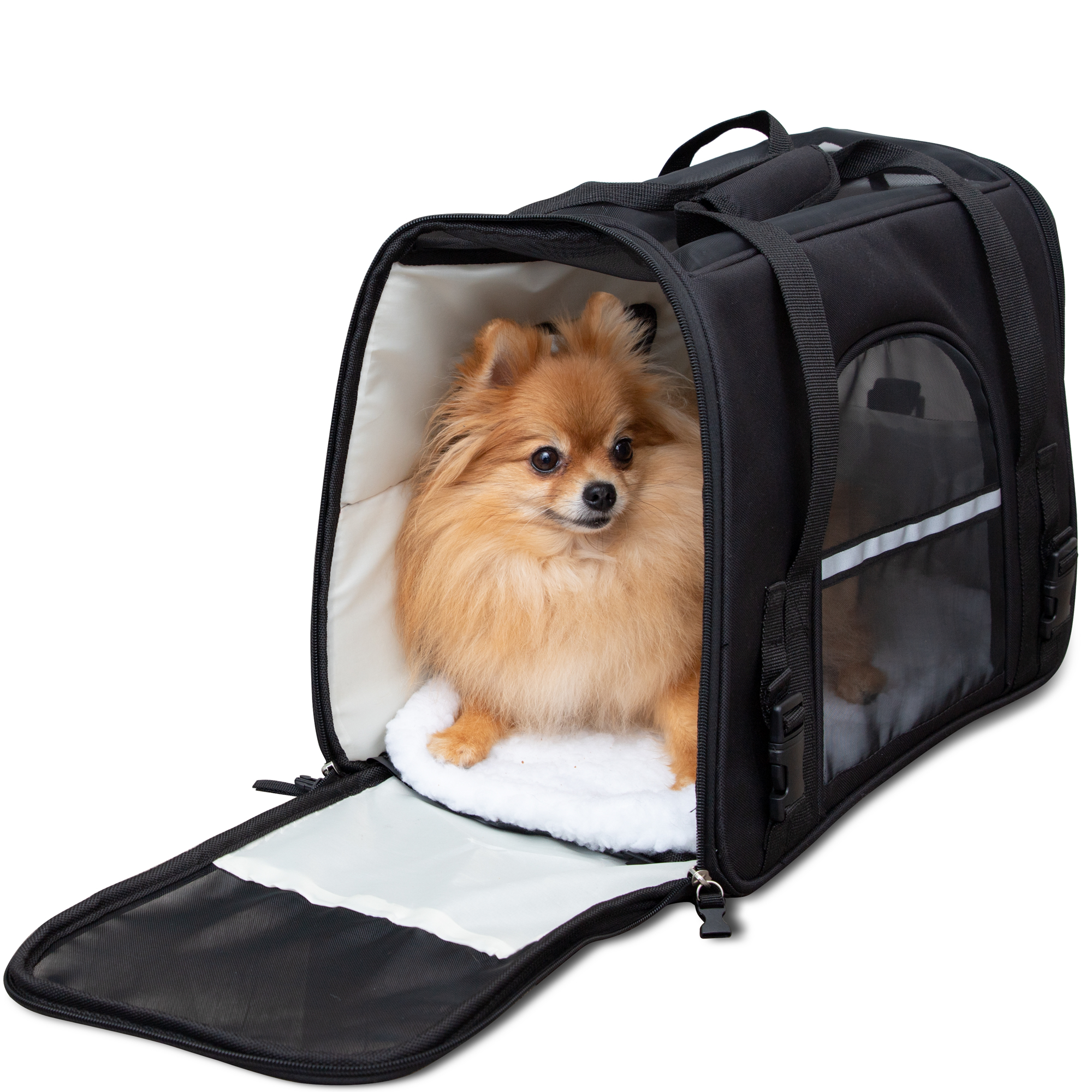 Paws Pals Pet Carrier For Dogs And Cats Soft Sided Faa Airline Approved Easy Travel Deluxe Walmart Com Walmart Com
