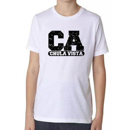 Chula Vista, California CA Classic City State Sign Boy's Cotton Youth - Party City Vista Ca