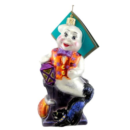 Christopher Radko LIFTED SPIRITS Blown Glass Ornament Halloween Ghost Cat