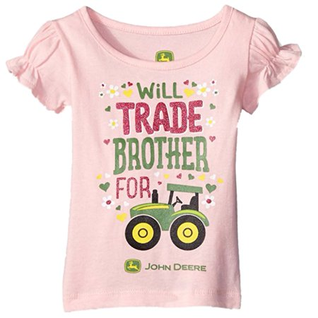 6582c89d027 John Deere - John Deere Toddler Girls Pink Will Trade Brother For Tractor  Shirt T-Shirt - Walmart.com