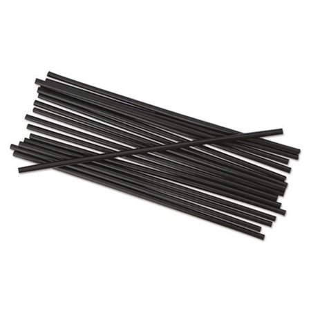 Black Unwrapped Straws (Boardwalk Unwrapped Single-Tube Stir-Straws, 5 1/4