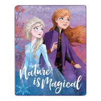 """Disney Frozen 2 Silk Touch Throw Blanket, 40"""" x 50"""", Nature is Magical"""