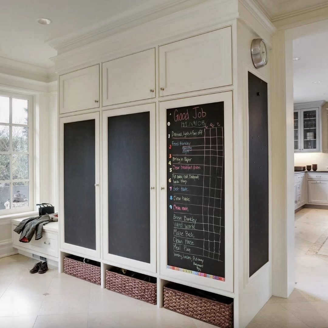 """Chalkboard Decal Wall Sticker with 5 Colored Chalk Blackboard Contact Paper Vinyl Measures 17.72"""" X... by musiccrazyor"""