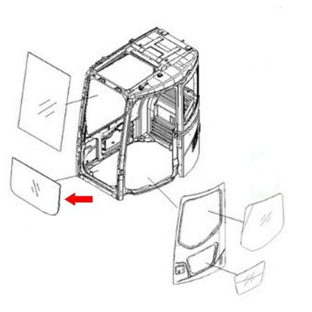 22B-54-15811 Front Lower Glass Made For Komatsu Excavator